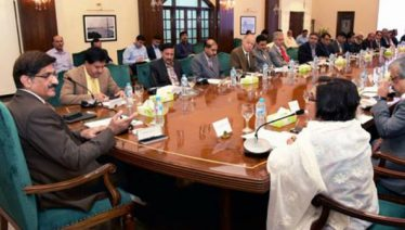 Chief Minister Syed Murad Ali Shah presided over a meeting on Safe City Project in Karachi
