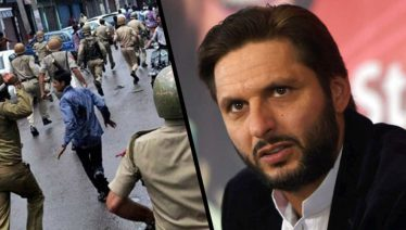 Shahid Afridi urges UN to Back Kashmir against Indian violence in tweet