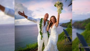 Dwayen Johnson marries Lauren Hashian
