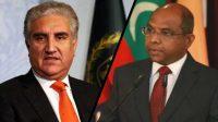 Pakistan foreign minister Shah Mahmood Qureshi calls Maldives foreign minister Abdulla Shahid