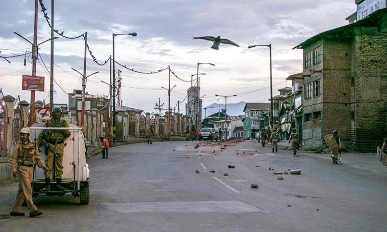 Curfew Kashmir ninth consecutive day