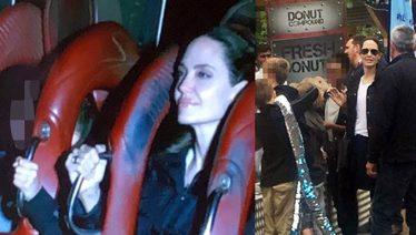 Angelina Jolie enjoys roller coaster ride