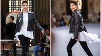Mahira Khan walks the ramp at Paris Fashion Week