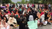 Students protest Gilgit