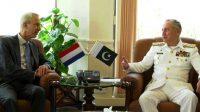 Naval Chief meets Netherlands ambassador to Pakistan