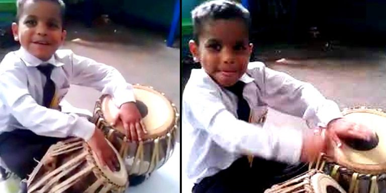 Pakistani Child Prodigy Plays Tabla Like a Maestro
