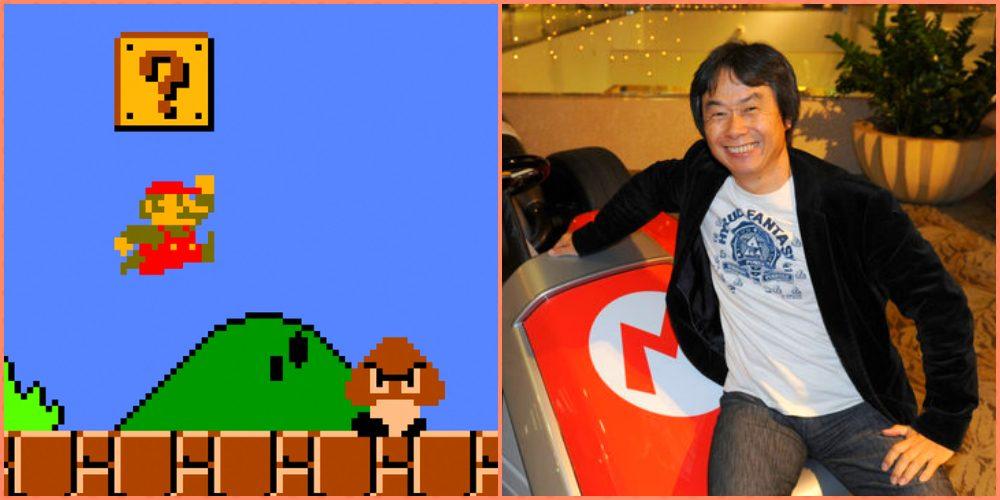 "Shigeru Miyamoto creator of ""Mario Bros."""