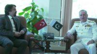 Naval Chief meets Turkish Ambassador to Pakistan