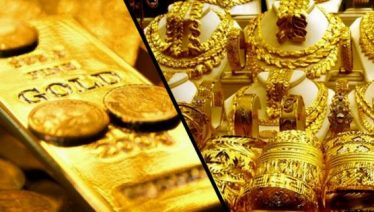 Gold prices decline by Rs 350