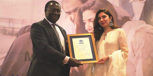 Mahira Khan to serves as UNHCR Goodwill Ambassador for Pakistan
