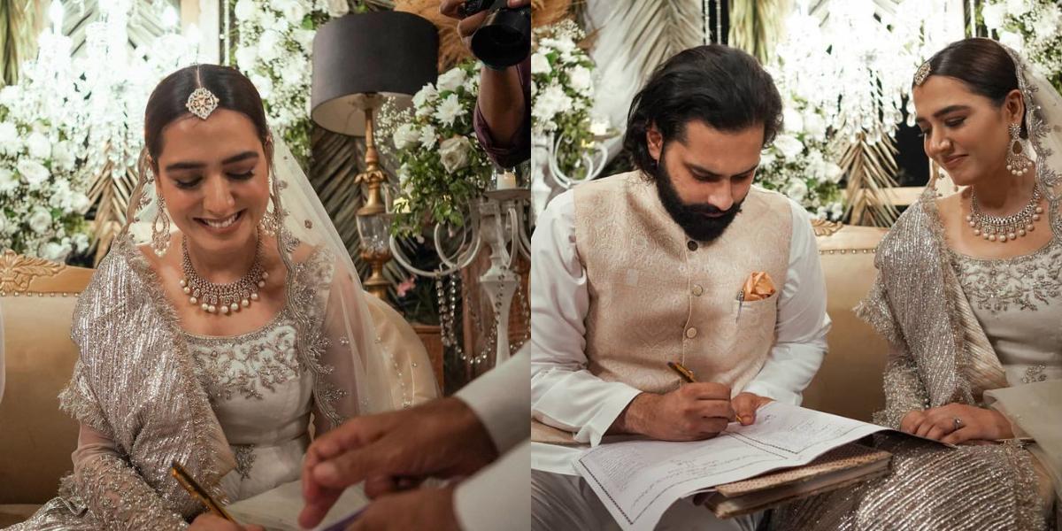 Take A Look At Mansha Pasha, Jibran Nasir's Nikkah Photos